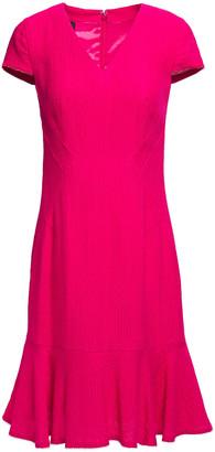 Talbot Runhof Flared Jacquard Dress