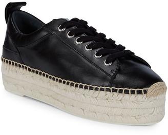 McQ Lace-Up Leather Flatform Espadrille