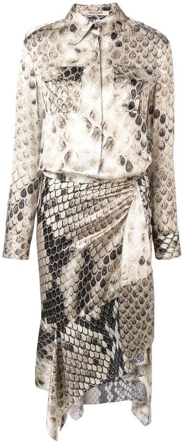 Roberto Cavalli Asymmetric Mid-Length Dress