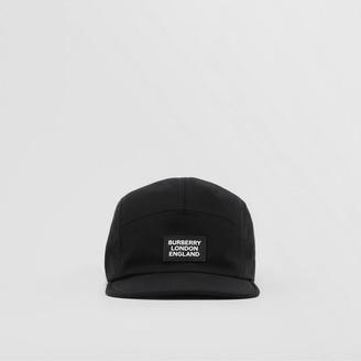 Burberry Logo Applique Cotton Twill Cap