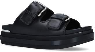 Alexander McQueen Leather Buckle Sandals