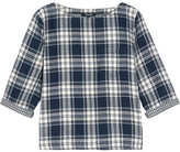 Madewell Herald Curtis Plaid Cotton-flannel Top - Midnight blue
