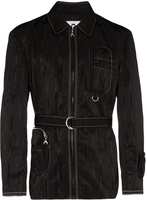 Marine Serre Belted Zip-Up Jacket