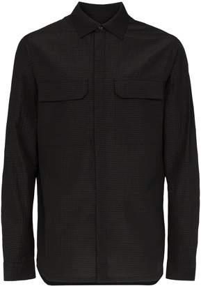 Rick Owens textured wool flap pocket shirt
