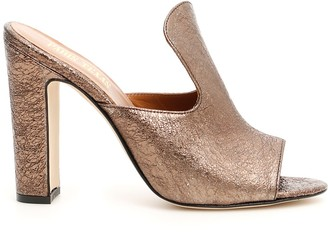 Paris Texas Open Toe Mules