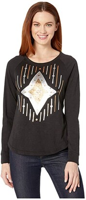 Ariat Ace of Diamonds Shirt (Black) Women's T Shirt