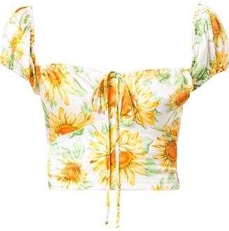 Bec & Bridge Francine floral-print silk top