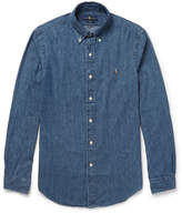 Polo Ralph Lauren Slim-Fit Button-Down Collar Washed-Denim Shirt