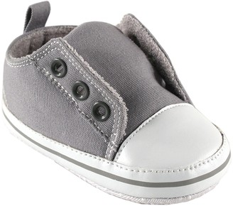Luvable Friends Unisex Baby Crib Shoes Gray 0-6 Months