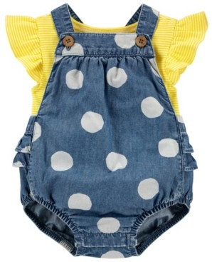 Carter's Baby Girls Tee and Bubble Romper Set, 2 Pieces