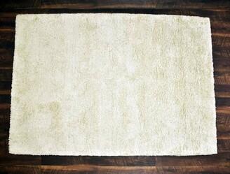 Orren Ellis Morningside Drive Handmade Shag White Area Rug