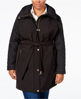 MICHAEL Michael Kors Size Hooded Belted Trench Coat