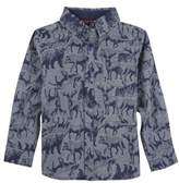 Andy & Evan Animal Print Woven Shirt