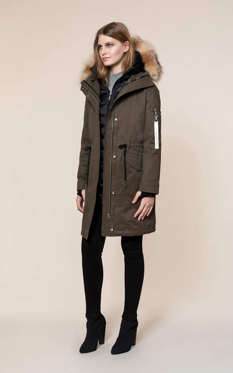 Soia & Kyo LOIS 3-in-1 utility down coat with removable fur