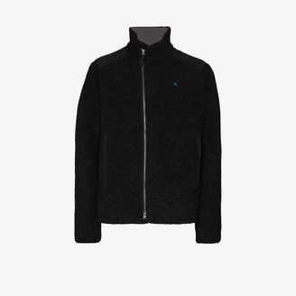Klättermusen black Skoll recycled wool fleece jacket