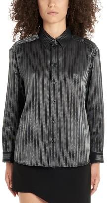Saint Laurent Striped Pleated Boxy Shirt