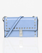 Le Château Studded Leather-Like Flapover Clutch