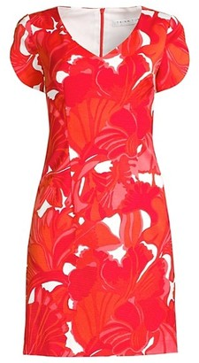 Trina Turk Shangri-La Flight Printed Sheath Dress