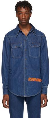 Calvin Klein Jeans Est. 1978 Blue Denim Logo Shirt