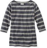 L.L. Bean French Sailor's Shirt, Three-Quarter-Sleeve Boatneck Multi-Stripe