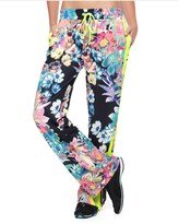 Juicy Couture Rainforest Floral Tricot Wide Leg Pant