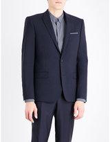 The Kooples Single-breasted Slim-fit Wool Jacket
