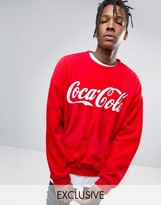 Reclaimed Vintage Inspired X Coca Cola Oversized Fluffy Sweatshirt