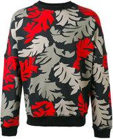 Diesel leaf print sweatshirt - men - Cotton - L