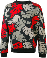 Diesel leaf print sweatshirt - men - Cotton - XS