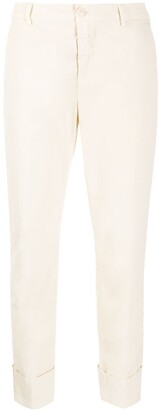 Closed Mid-Rise Cropped Trousers