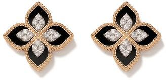 Roberto Coin 18kt rose gold diamond Princess Flower earrings