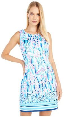 Lilly Pulitzer Mila Stretch Shift (Skim Blue Reel Nauti Engineered) Women's Dress