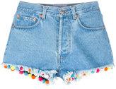 Forte Forte pom-pom trim denim shorts