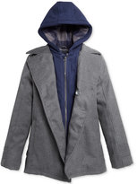 London Fog Boys' Layered-Look Hooded Peacoat