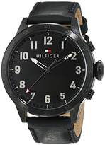 Tommy Hilfiger Men's Quartz Smartwatch analogue / digital Display and Leather Strap 1791301