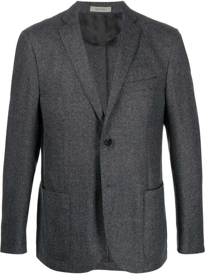 Corneliani checked slim-fit blazer