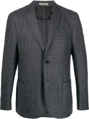 Corneliani checked slim-fit blazer