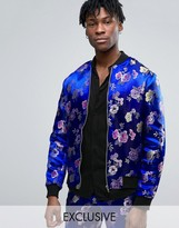 Reclaimed Vintage Brocade Bomber Jacket