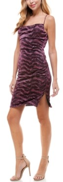 City Studios Juniors' Animal Burnout Slip Dress