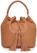Vince Camuto Chestnut Brown Zinya Drawstring Bucket Bag
