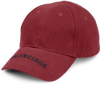 Balenciaga Logo Cotton Visor Cap