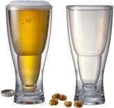 Prodyne Hopsy-Turvy Upside Down Beer Glasses (Set of two)