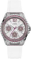 GUESS Women's White Silicone Strap Watch 40mm U0032L6