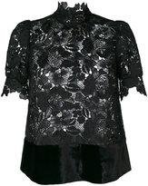 No.21 lace high neck blouse