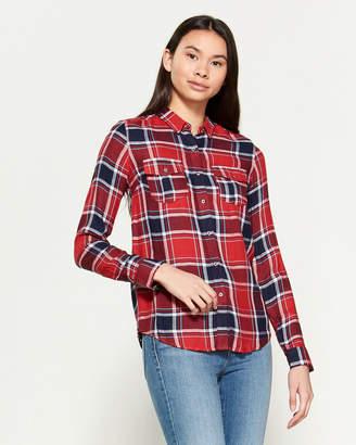 Superdry Nashville Plaid Long Sleeve Boyfriend Shirt