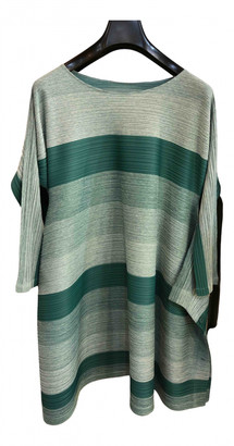Pleats Please Green Polyester Dresses