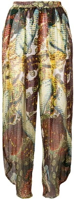 Jean Paul Gaultier Pre-Owned tapered sheer trousers