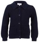 Rachel Riley Navy Collared Cotton Cardigan