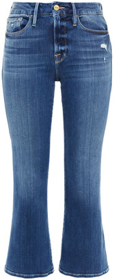Frame Faded Mid-rise Kick-flare Jeans