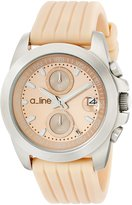 A Line a_line Women's 80010-016-BE Aroha Chronograph Dial Silicone Watch